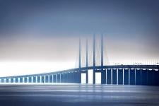 Assignment on Oresund Bridge, Denmark-/Sweden, for International Herald Tribune
