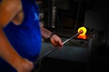 Murano glass making at Effetre factory, Murano, Italy
